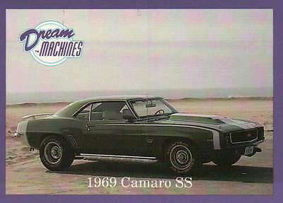 1969 Camaro SS, Dream Machines, Cars, Trading Card, Automobile - Not Postcard
