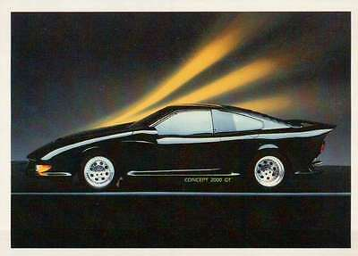 Concept 2000 GT 1987, Dream Cars Trading Card, Automobile - Not Postcard