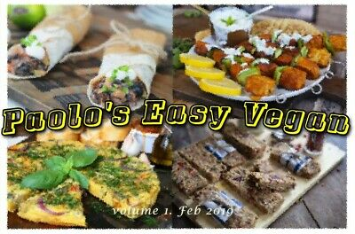 Paolo's Easy Vegan quick reference recipes, PDF file, healthy lifestyle