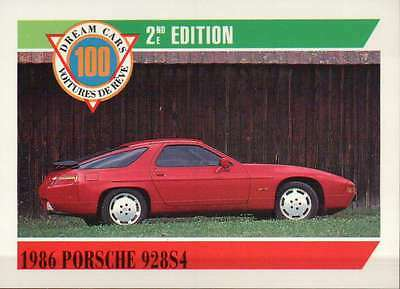 1986 Porsche 928S4, Coupe, Dream Cars Trading Card, Automobile --- Not Postcard