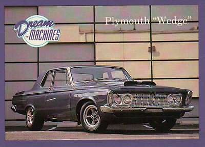 """Plymouth """" Wedge """", Dream Machines Cars, Trading Card, Automobile - Not Postcard"""