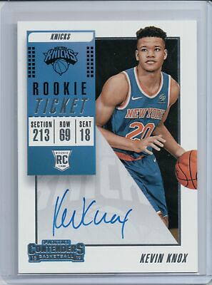 2018-19 Panini Contenders Rookie Ticket Autographs #134 Kevin Knox Rc Au