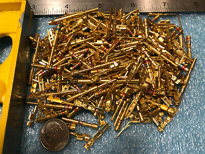 1 pound  GOLD PLATED Telecom Pins Connector SCRAP RECOVERY CPU MINE HIGH QUALITY