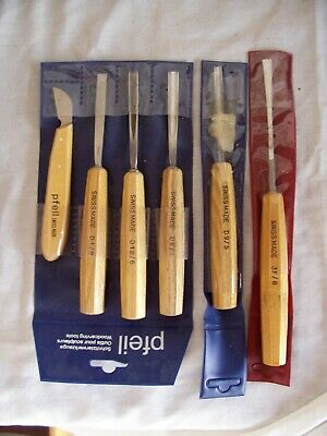 "Pfeil ""swiss Made"" Set Of 6 New Carving Chisels Tools"