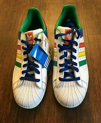 ADIDAS SUPERSTAR II CB White Multi Color Mens Sz 13 Shell Toes Sneakers 045888