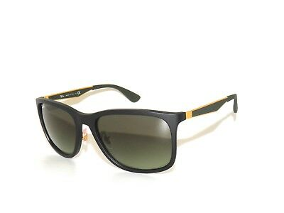 5fb43395d0 Ray Ban Sunglasses 4313 601-S E8 Matte Black Green Gradient Brown Rayban