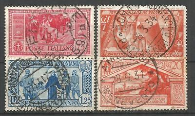 Italy. Four Postmark Stamps. Used (B)