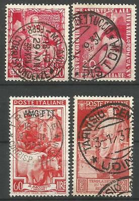 Italy. Four Postmark Stamps. Used (A)