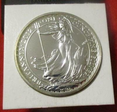 2012 Great Britain Britannia £2 Two Pounds Silver BU 1oz Coin                #MF