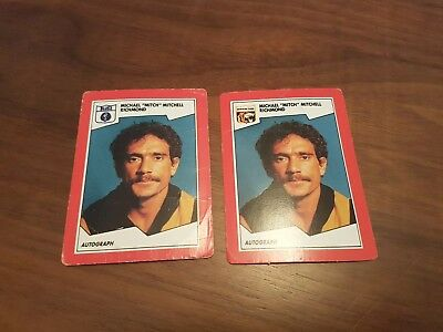 1989 Michael Mitchell Error Cards Richmond Tigers Select Scanlens AFL / VFL
