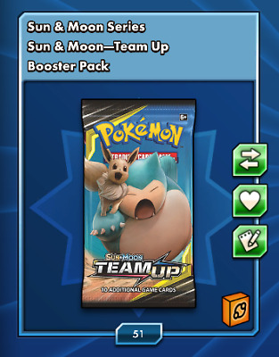 50x Sun And Moon Team Up Pokemon TCGO PTCGO TCG Online IN GAME DELIVERY