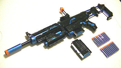 Custom Painted And modified Nerf Recon Gun With Darts