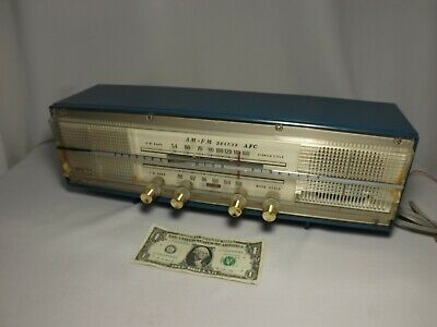 Late 50's AM FM Deluxe AFC Model AF-610 TUBE Table Model Radio  DOES WORK Japan