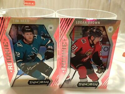 2017-18 Upper Deck Synergy RED ROOKIE Lot (2) Logan Brown Tim Heed
