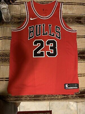 47c3ad1b0 Nike Authentic Michael Jordan Icon Edition Chicago Bulls Red Jersey Size  48 L