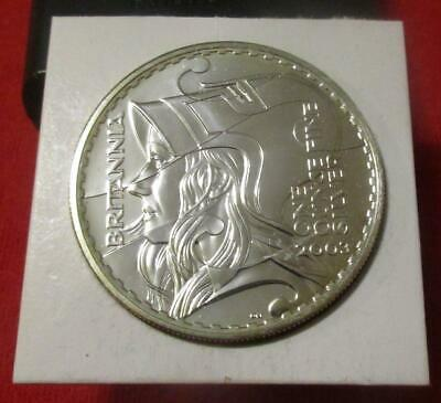 2003 Great Britain Britannia Bust £2 Two Pounds Silver BU 1oz Coin          #MF