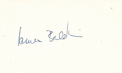 JAMES BALDWIN. Signed Card. Novelist, playwright, and civil rights activist.