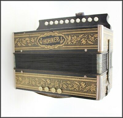 Antique Hohner Marca Made In Germany Accordion Squeeze Box