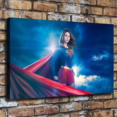 "12""x20""Supergirl Picture HD Canva print Painting Home decor Poster Room Wall art"