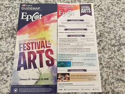 Walt Disney World Epcot  Festival Of The Arts 2018 Guide Map And Times Guide Ope