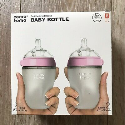 2 Pink Comotomo Natural Feel Baby Bottle 250ml