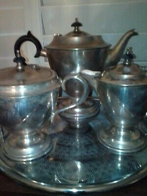Silver Tea Set - Three Pieces - Needs A Good Clean