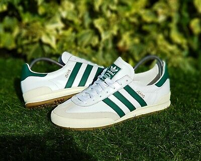 timeless design 023b1 2b47a BNWB Genuine adidas originals ® Jeans MkII Mk2 White Leather Trainers UK  Size 11