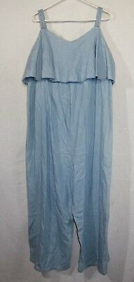 Isabel Maternity Denim Jumpsuit Woman's Size 2XL Color Blue Light Wash