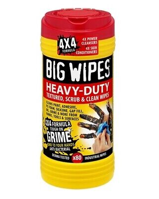 Big Wipes Heavy Duty Clean Remove Paint Grime Oil Silicone Textured Scrub Hands