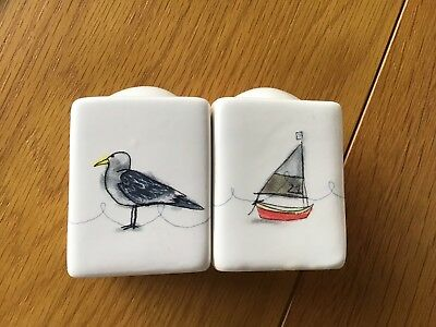 gisela graham Ships Boats And Seagulls Salt And Pepper Pots