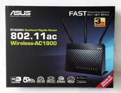 ASUS RT-AC68U 1300 Mbps Wireless AC Router - Brand New in Box & Plastic Sealed