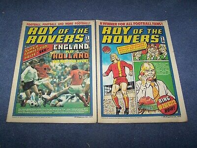 2 Roy of the Rovers Comics  23/10/1976 and 30/10/1976