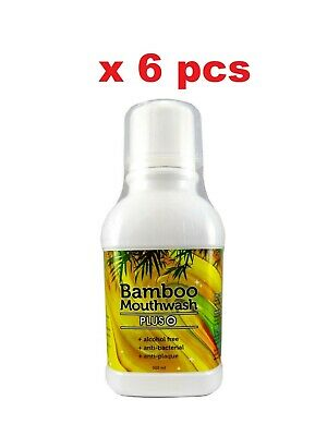 6pcs x 300ml Bamboo Mouthwash Plus toothache oral hygiene deodorant bacteria new