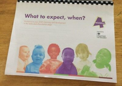 What to expect, when? EYFS Booklet