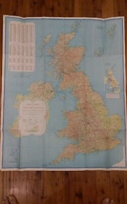 Britain A map for tourists (vintage)