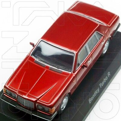 BENTLEY TURBO R MINICAR COLLECTION KYOSHO 1:64 RED post mulsanne pre arnage NIB