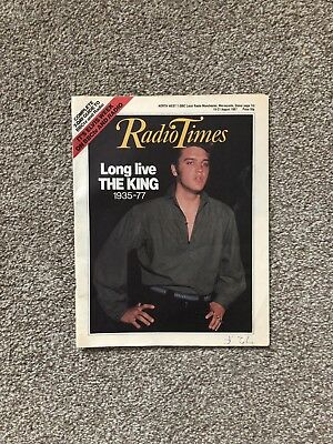 Radio Times Magazine August 1987 Elvis Presley cover and article