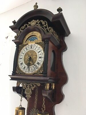 Antique Vintage Beautiful Dutch Sallander Wall 8 Day Clock Fantastic Condition