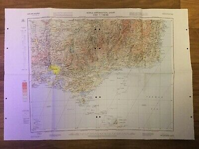 World Aeronautical Chart (3470) Melbourne 10th Edition