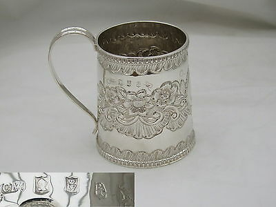 Rare George Iii Irish Hm Sterling Silver Tankard 1819