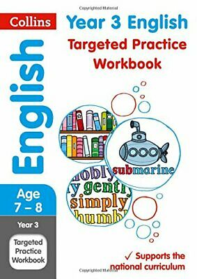 Year 3 English Targeted Practice Workbook: 201 by Collins KS2 New Paperback Book