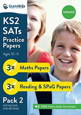 2019 KS2 SATs Practice Papers - Pack 2 (English by Exam Ninja New Paperback Book
