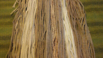#6 Oats & Creams Mix 155  Wool Strips for Primitive Rug Hooking