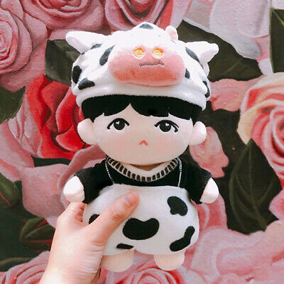 20cm/8'' KPOP BTS SUGA Plush BabySu Doll with Cow Outfit Cute Limited Min Yun Ki