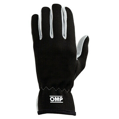 OMP Racing New Rally Fire Retardant Gloves in Black Size Large IB/702/N/L NEW