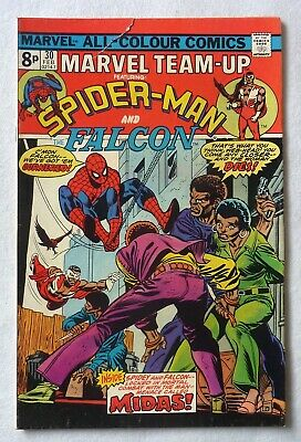 Marvel Team Up 30 Spider-Man Falcon Marvel Comics 1975 VG+ Condition