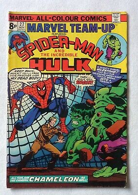 Marvel Team Up 27 Spider-Man Incredible Hulk Marvel Comics 1974 VFN Condition