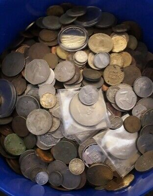 Job lot of old british coins . 3.5 kiloCoin collection. Collectable coins.