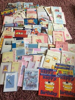 100 multi cards, wholesale joblot greeting cards