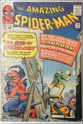 The Amazing Spider-Man #18 (1964) 1st Appearance of Ned Leeds.
